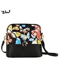 ZIWI Brand Shell Women Bag Animal Butterfly Print Lady Handbag PU Leather Fashion Bags ZWTB229