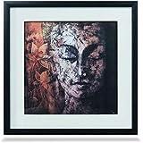 ArtDotz Matte Paper Meditating Buddha Art Frame (42 Cm X 42 Cm X 3 Cm, 63-11-O218-12-2893B)-Pack Of Two