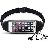 Universal Running Belt, Shalwinn Sweatproof Sports Waist Pack With [Clear Touchscreen Window] [Earbud Jack] For...