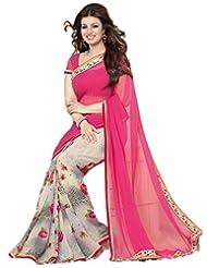Priya Fashion Georgette Lace Saree
