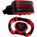 VR Real Feel Virtual Reality Car Racing Gaming System With Bluetooth Steering Wheel And Headset Goggles Viewer...