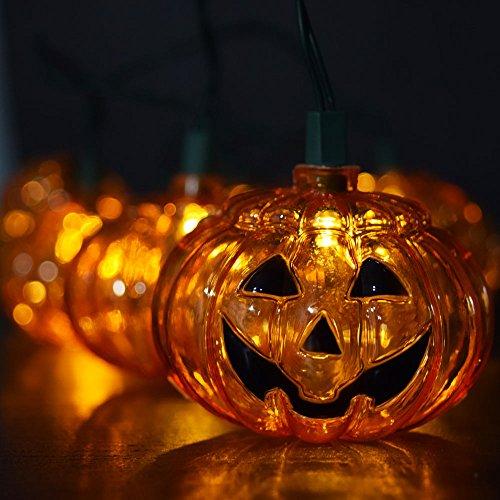 Fantado 10 LED Jack-o-Lantern Pumpkin Halloween String Light, 5.5 FT Battery Operated by PaperLanternStore