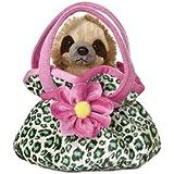 Aurora World Fancy Pals Plush Toy Pet Carrier, Sloth