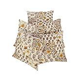 Rajrang Kantha Work Cotton Cream Cushion Cover