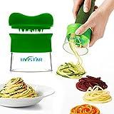 Uvistar Spiralschneider Hand für Gemüsespaghetti kartoffel, Zucchini Spargelschäler, Gurkenschneider, Gurkenschäler , Möhrenreibe Möhrenschäler, Gemüsehobel