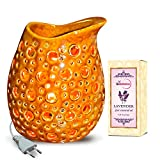 Sparkling Lights Ceramic Electric Aroma Diffuser With Lavender Oil - Design 9