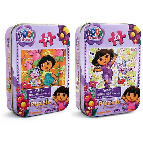 Dora the Explorer 24-Piece Puzzles in Tin [2 Pack]