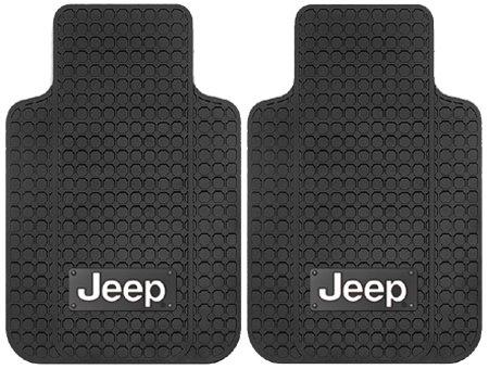 Jeep Logo – 2 Pc Universal Front Floor Mats Set