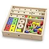 Viga Wooden Construction Set (53-Piece)