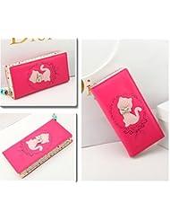 Beautiful BowCat Women's Wallet Purse Clutch Handbag For Womens Zipper Long Wallet Clutches And Purses (Magenta...