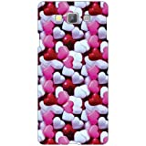 Samsung Galaxy A7 SM-A700FD Back Cover - Pink & White Hearts Designer Cases