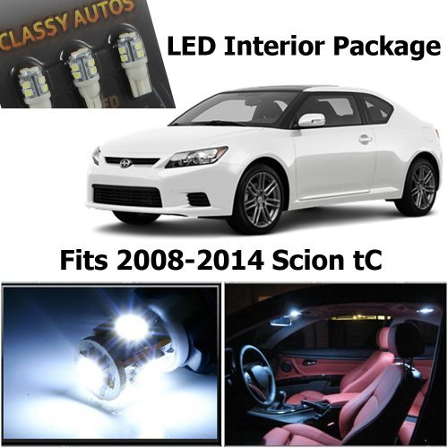 Scion tC WHITE Interior LED Package (7 Pieces)