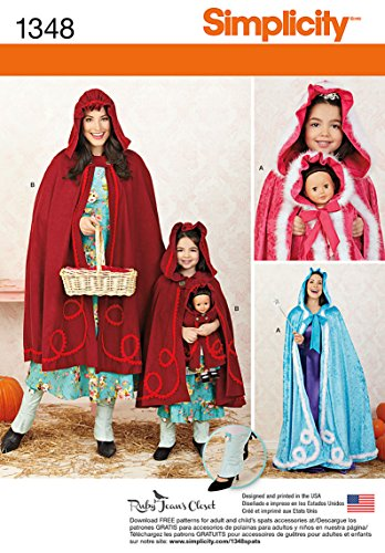 Simplicity Child's and 18-Inch Doll Capes Sewing Patterns