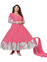 Alethia Pink Color Party Wear Embroidered Gerogette Semi-Stitched Salwar Suit-ALG712DLD61AS