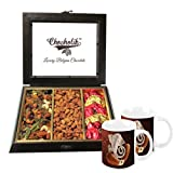 Chocholik Dry Fruits - Scrumptious Collection Of Cranberry, Almonds & Baklava Box With Diwali Special Coffee Mugs...