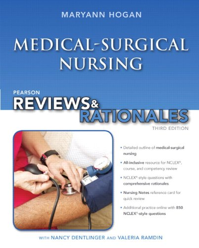 """Pearson Reviews & Rationales: Medical-Surgical Nursing with """"Nursing Reviews & Rationales"""" (3rd Edition) (Pearson Nursing Reviews & Rationales)"""