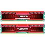 Patriot 8GB 2x4GB Viper III DDR3 1866MHz PC3 15000 CL10 Desktop Memory With Low Profile Red Heatsink - PVL38G186C0KR
