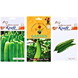 Seeds Packets (3 In 1) – Bottle Gourd Hybrid And Ridge Gourd Hybrid And Sponge Gourd Hybrid – By Gate Garden
