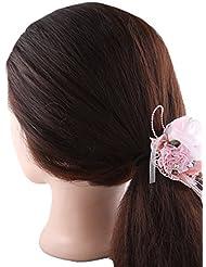 Anuradha Art Pink Colour Designer Beautiful Hair Accessories Hair Band Stylish Rubber Band For Women/Girls
