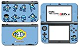 Megaman 25th Anniversary Special Edition Mega Rock Man Rockman Video Game Vinyl Decal Skin Sticker Cover for the New Nintendo 3DS XL LL 2015 System Console Protector