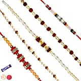 Fancy Set Of 05 Rakhis For Rakshabandhan