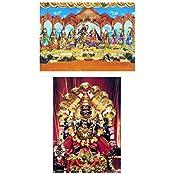 DollsofIndia Radha Krishna & Narasimha Avatar (2 Photographic Print) 7 X 5 In.