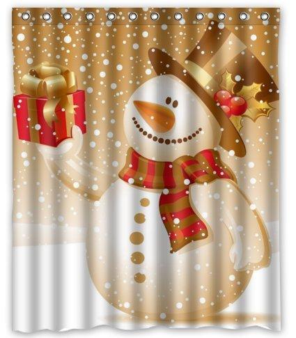 Snowman Shower Curtain Shop