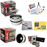 10 Piece Ultimate Lens Package For The SAMSUNG SMX-F40 F43 Includes .43x High Definition II Wide Angle Panoramic...