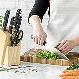 Messerset Nidda 7 tlg. von K & G seit 1948 bestückter Messer-Block aus Echtholz braun, rostfreier Edelstahl, inkl. Schere -