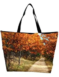 Snoogg Small Path Through The Forest Designer Waterproof Bag Made Of High Strength Nylon