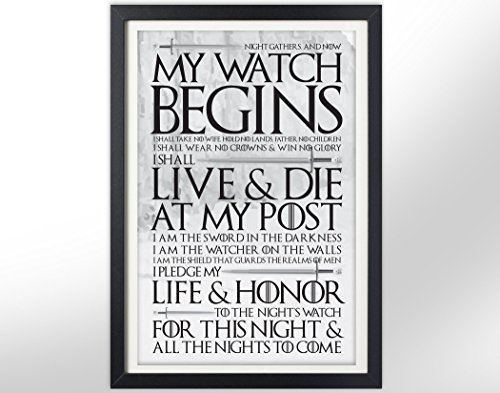 Game of Thrones Night's Watch Oath Poster - Jon Snow