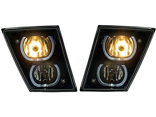 APA Volvo Vn Vnl 630 670 730 780 Truck 03 – 16 U Bar Halo Black Fog Light Lamp Pair Set 20737497, 20737496