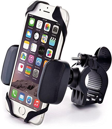Best Bike & Motorcycle Cell Phone Mount – For iPhone 6 (5, 6s Plus), Samsung Galaxy Note or any Smartphone & GPS – Universal Mountain & Road Bicycle Handlebar Cradle Holder. +100 to Safeness & Comfort