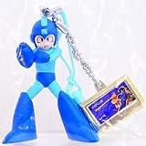 Megaman Rockman Phone Key Chain Strap Figure System - Megaman (Blue) with Megaman 4 Cartridge (Gold variant)