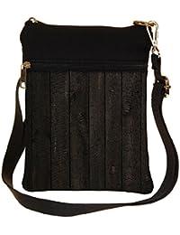 Snoogg Opera Wood Cross Body Tote Bag / Shoulder Sling Carry Bag