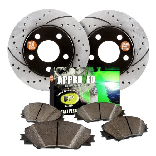 Approved Performance G23034 – [Rear Kit] Premium Performance Drilled/Slotted Brake Rotors and Carbon Fiber Pads