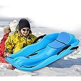 Unichart Snow Sled For Kids/Adult, Outdoor Grass Skiing, Winter Toboggan, Sky Blue