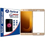 AVICA™ Full Edge To Edge Cover GOLD / GOLDEN Tempered Glass Screen Protector For Samsung Galaxy J7 Max