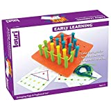 Lauri Toys Stringing Pegs And Pegboard Set