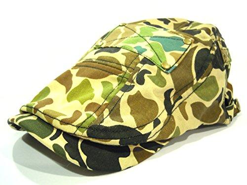 大きめサイズ クレイジーパターン カモフラ 迷彩ハンチング メンズ レディース アウトドア 登山 ゴルフ コットン素材 帽子 父の日 敬老の日 M L