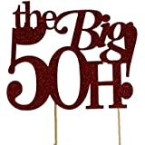 All About Details Red The Big 5OH! Cake Topper