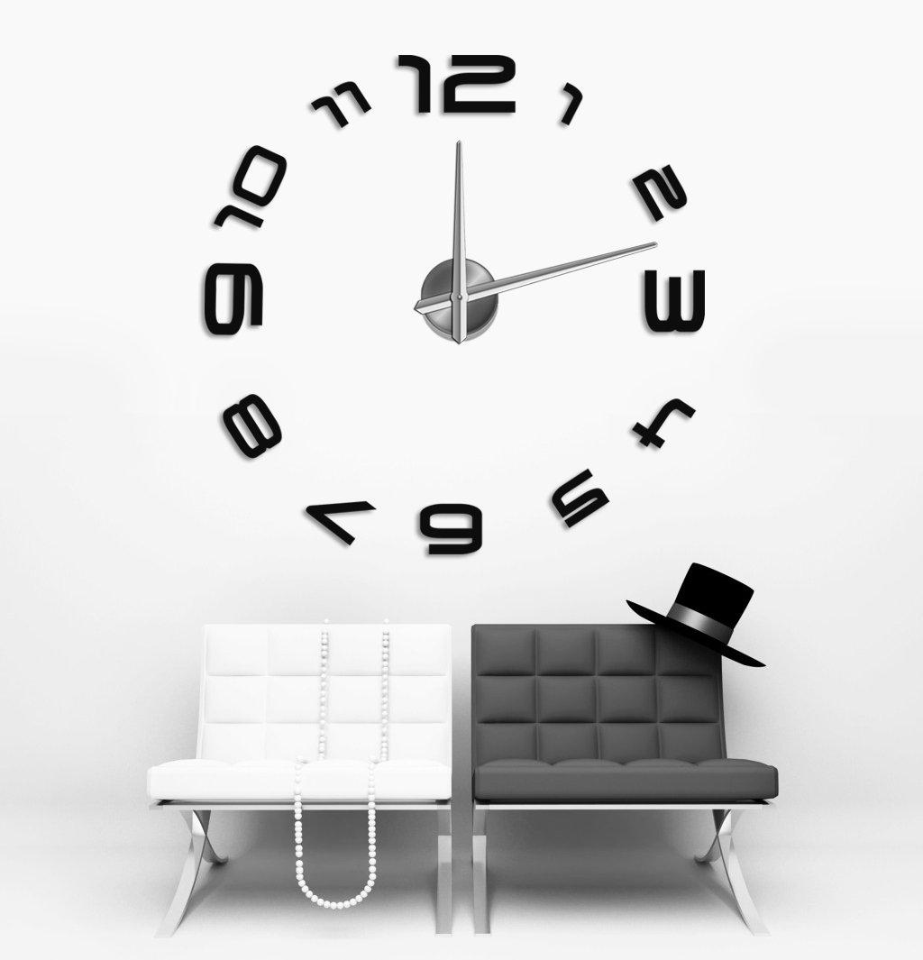 Wanduhr 100 cm 3 D XXL Uhr Moderne Selbst gestaltbare Do-it-yourself Design 3