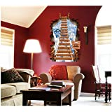 Decals Arts Ladder Wall Sticker Removable Home Decors Decal