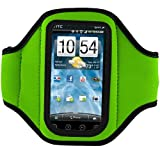 VangoddyTM Green Neoprene Protective Exercise Workout Armband For T-Mobile HTC MyTouch 4G Slide Android Smartphone...