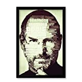 PosterGuy Steve Jobs Typographic Illustration Motivational Famous Personality A4 Laminated Framed Poster