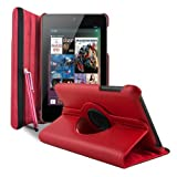 Gioiabazar 360 Degree Rotating Smart Leather Case Cover For Asus Google Nexus 7 2012 1st Generation Tablet Red...