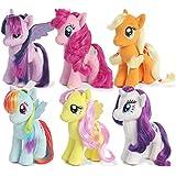 My Little Pony Friendship Magic Collection: Rarity, Pinkie Pie, Applejack, Fluttershy, Rainbow Dash,