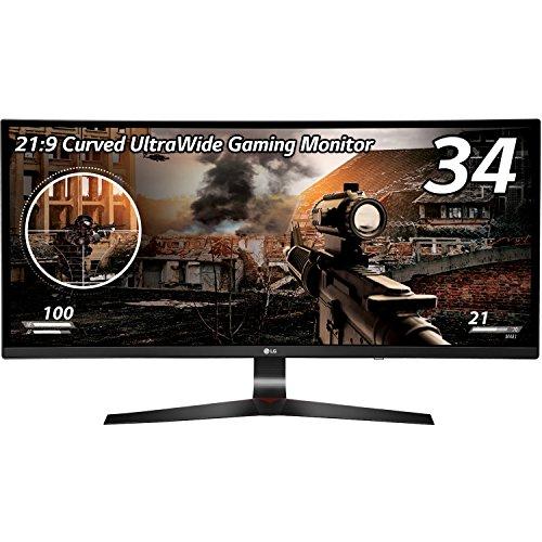 LG 34UC79G-B ゲーミング ディスプレイ モニター 34インチ/21:9 曲面 Ultra Wide/IPS 非光沢/144Hz/DisplayPort×1,HDMI×2
