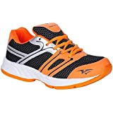 Knight Ace Running Sport Shoes Black Orange Active Sport Shoes
