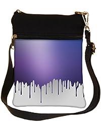 Snoogg Paint Droplets Cross Body Tote Bag / Shoulder Sling Carry Bag